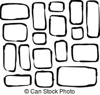 Square clipart hand drawn Hand Vector white drawn