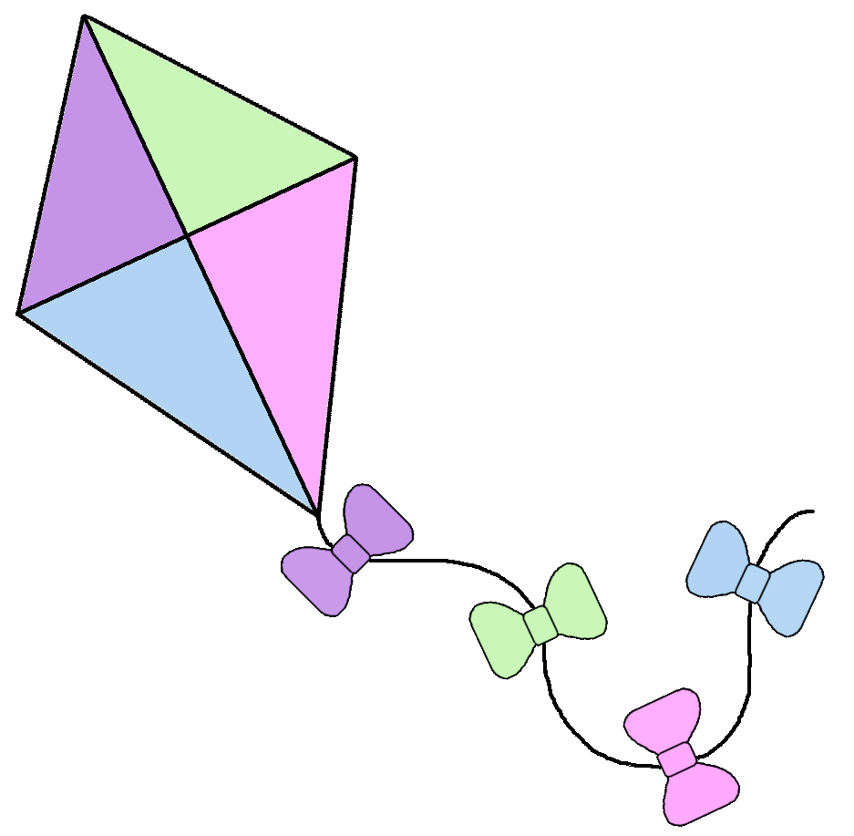 Square clipart kite Of by Background Kites courtesy