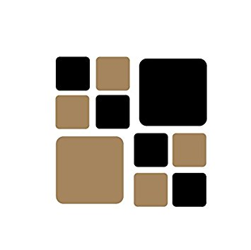 Squares clipart light brown Square Set Wall Decals 50