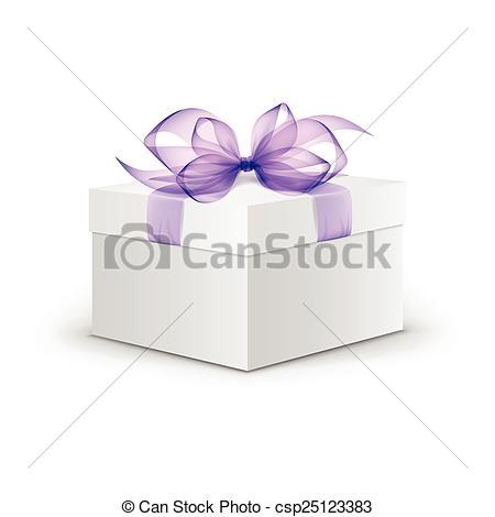 Square clipart light purple Gift Box White Vector Box