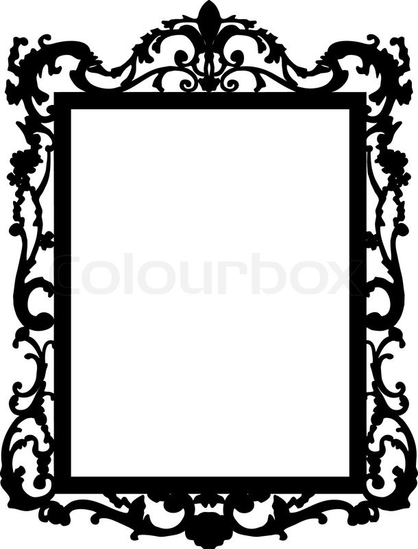 Squares clipart mirror frame Mirror baroque baroque Drawing Drawing
