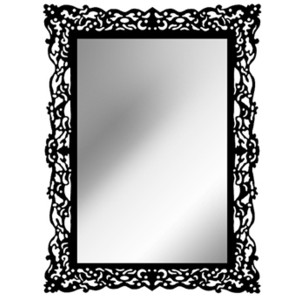 Square clipart mirror frame Frames Polyvore Gothic Mirror Frame