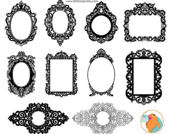 Squares clipart mirror frame ClipArt PNG Digital Art Baroque