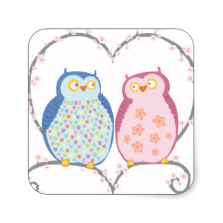 Square clipart owl In Square Clipart Blue Owls