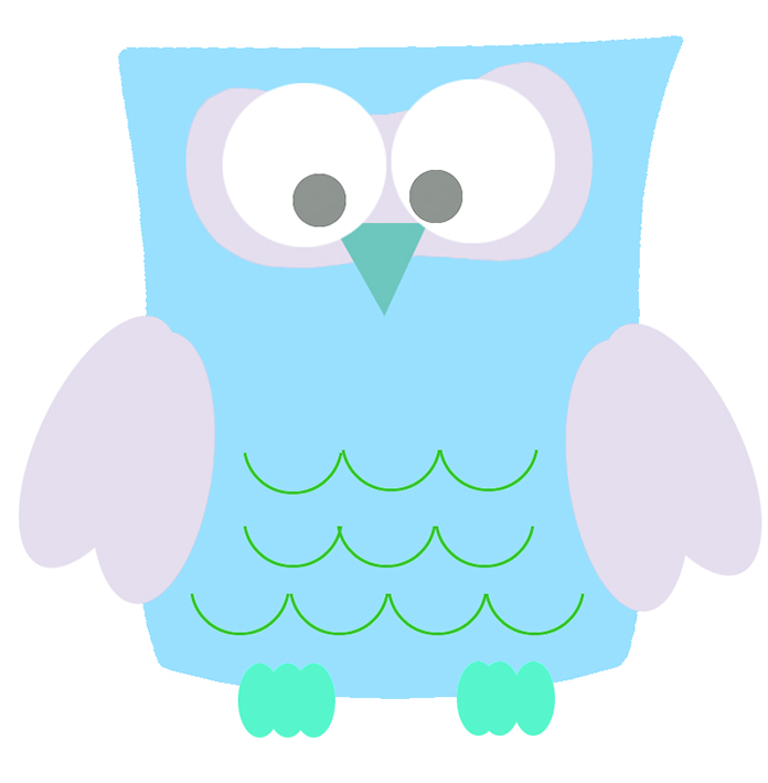 Owl clipart blue and green Owl Owl Clip picture Art