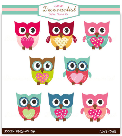 Square clipart owl Etsy Clip by Owl owls