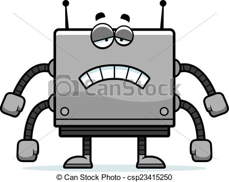 Square clipart sad Vector Robot of Download Instant