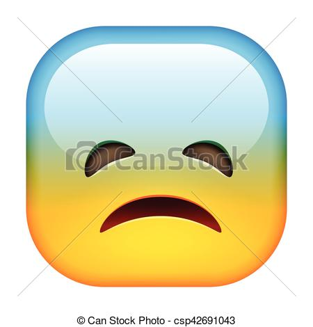 Square clipart sad Smile Unhappy smile Emoji Square