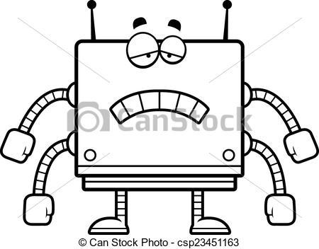 Square clipart sad Cartoon A csp23451163 of illustration