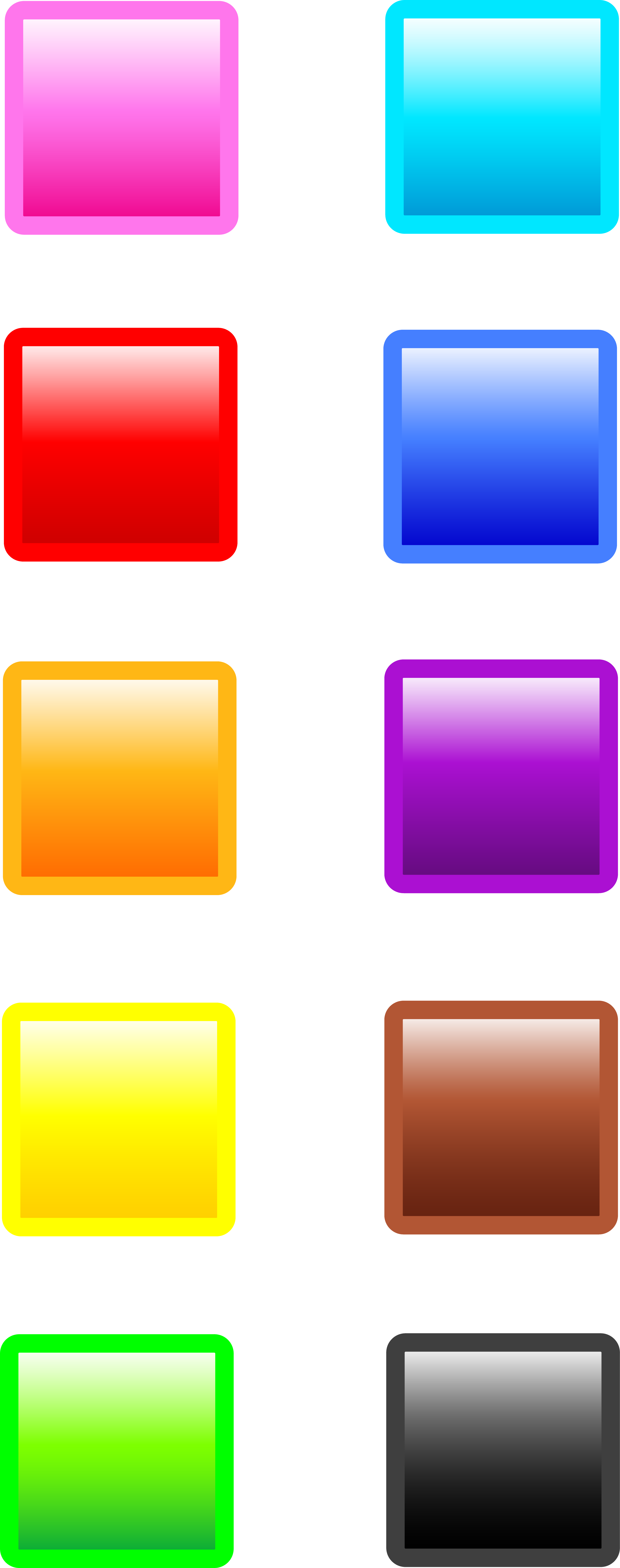 Squares clipart colored Web Glossy Ten Art Buttons