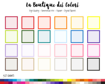 Square clipart solid color Solid Frame art PNG color