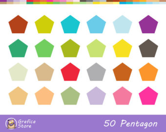 Square clipart solid color For Planner Invitations Pentagon PNG