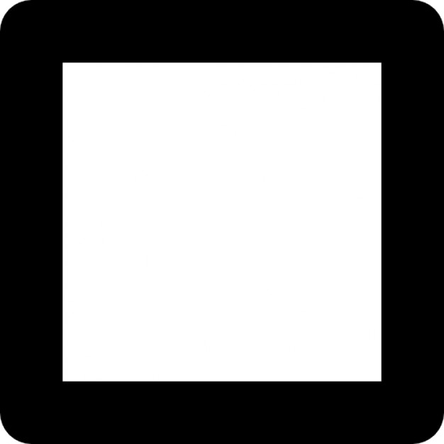 Squares clipart square outline Rounded Square rounded slightly corners