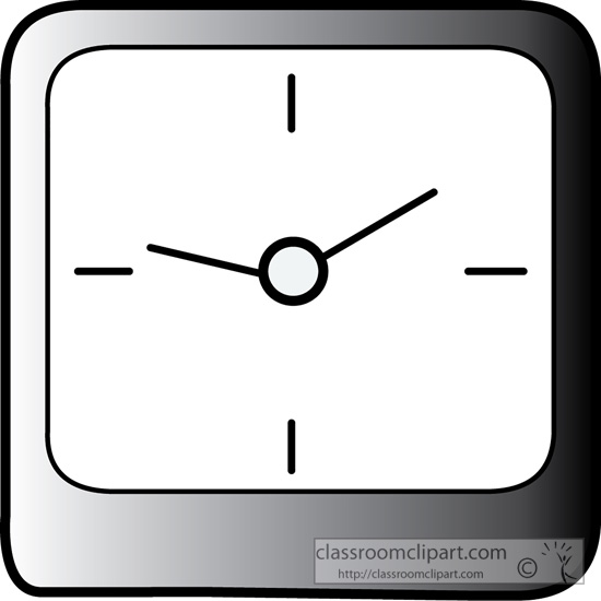 Squares clipart square shaped object Square objects clip art Clock