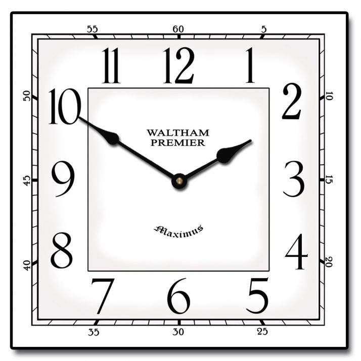 Square clipart square wall clock Medium Wall Wall  Clock