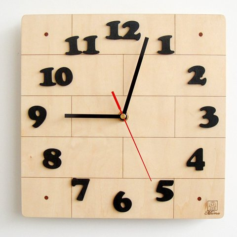 Square clipart square wall clock Wooden Clock clock Clipart clipart