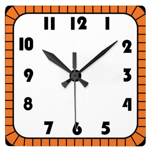 Square clipart square wall clock Wall clock Zazzle clipart Square