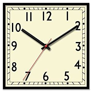 Square clipart square wall clock Brown Clock Clock Clipart Square