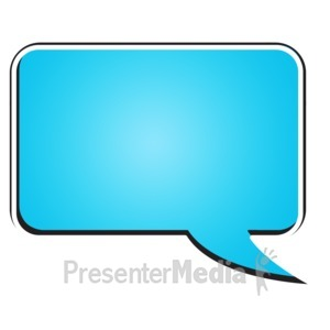 Square clipart teal Presentation Chat Bubble and Clipart