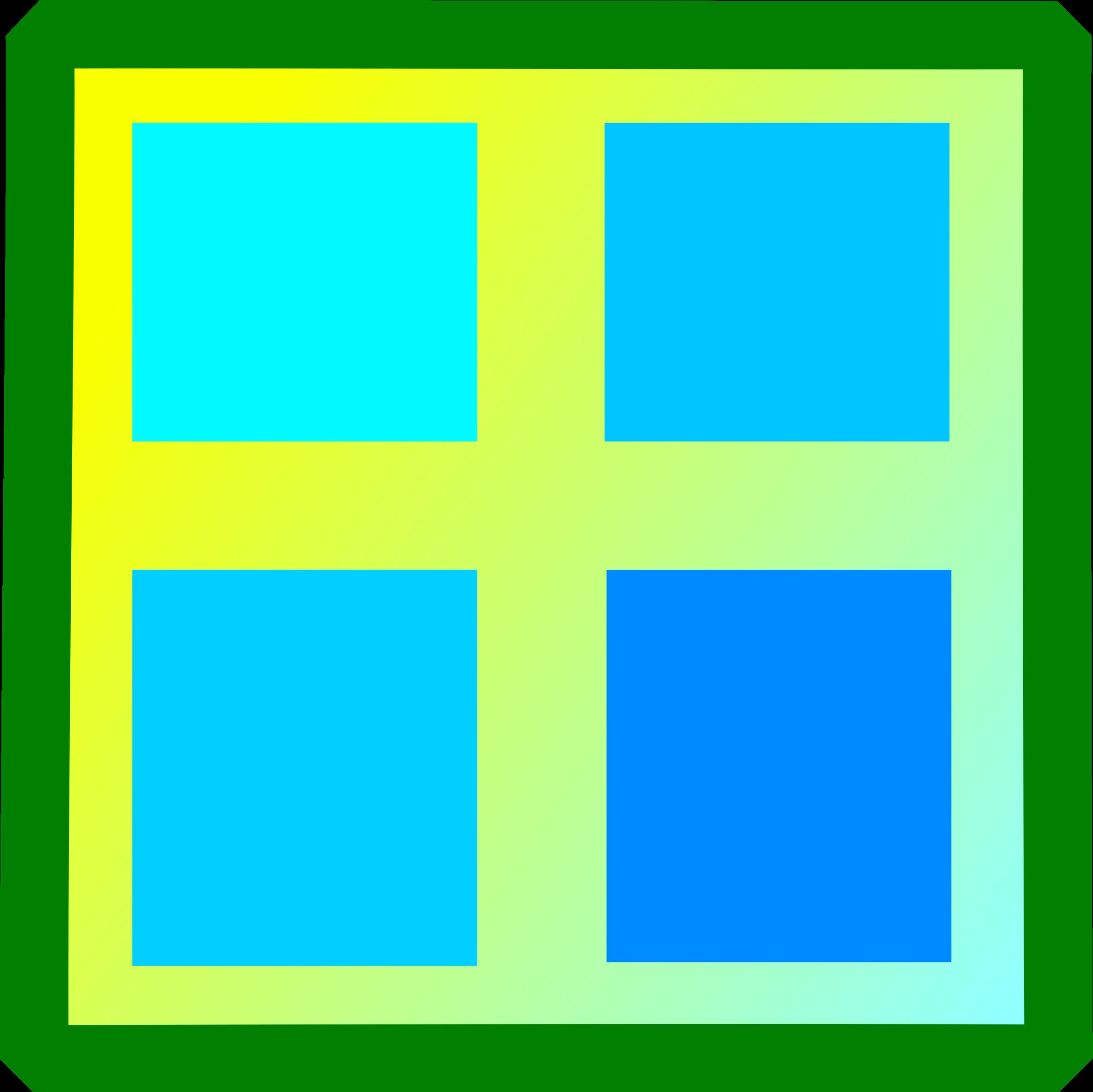 Square clipart teal Cliparts Window Square Clip Free