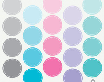 Square clipart teal Clipart Stitched Stitches with Hexagon
