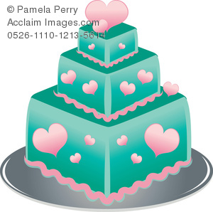 Square clipart teal Cake Tier Square a of