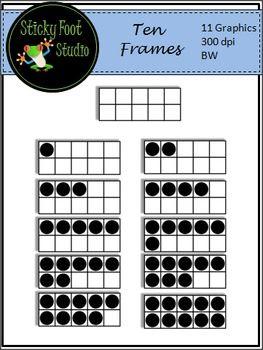 Square clipart ten All Art on Frames set
