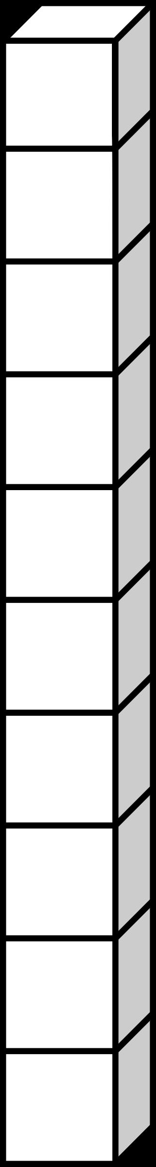Square clipart ten 10 dizaine Clipart dizaine 10