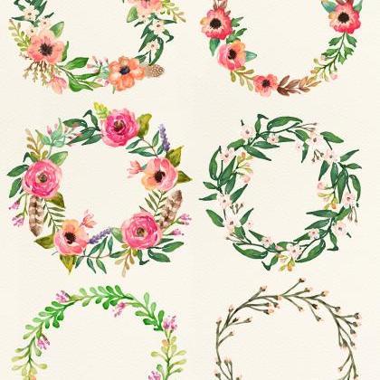 Square clipart watercolor Cliparts Art Clip Floral Frame