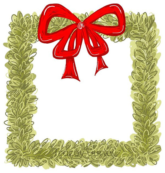 Wreath clipart holiday decoration Art Clip Wreath clip invitation