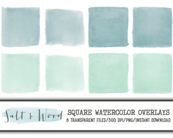Square clipart watercolor PNG Overlays Inch Transparent Square