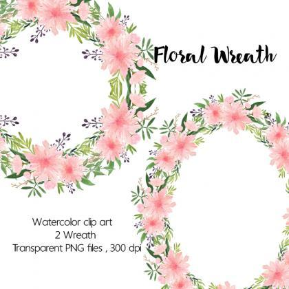 Square clipart watercolor Art Wreath Waterco Clip Floral
