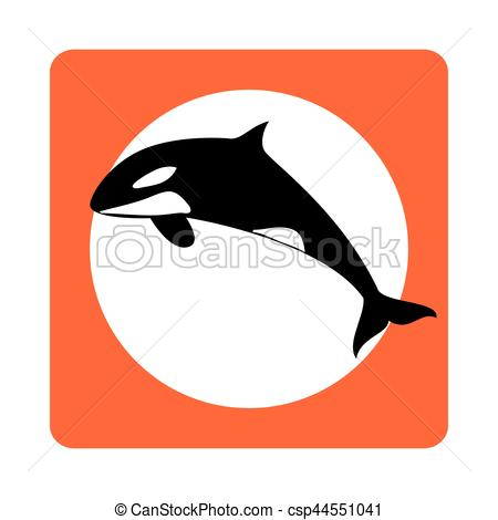 Square clipart whale Square whale  vector EPS