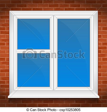 Door clipart square window  in with sill brick