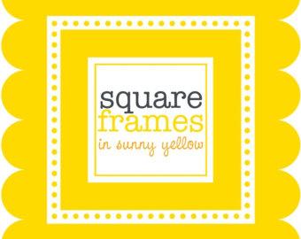 Square clipart yellow In Frames Square Clip Clip