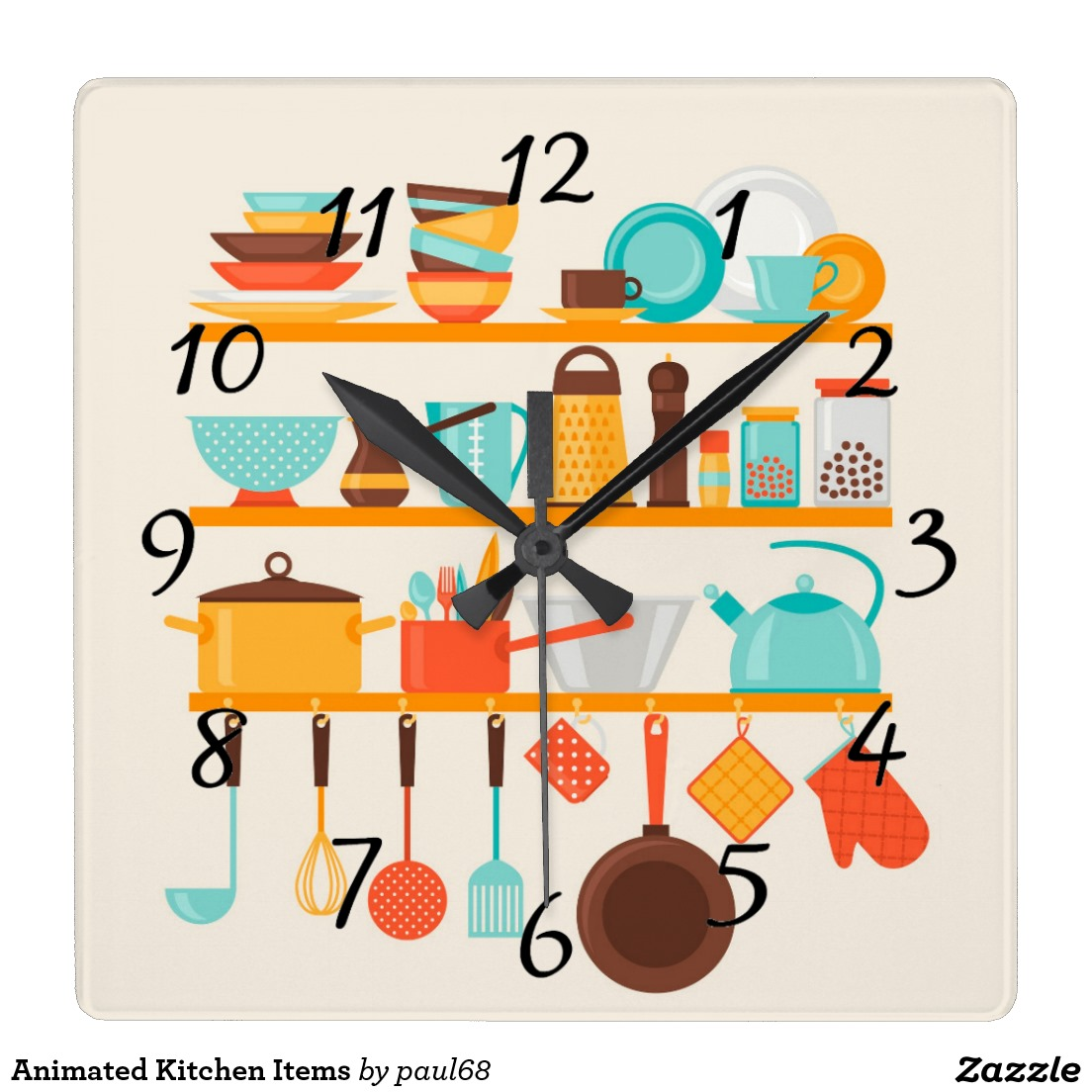 Squares clipart animated Wall Clock Clock Squares