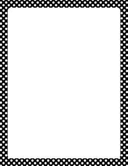 Squares clipart black border Free Dot and White Polka