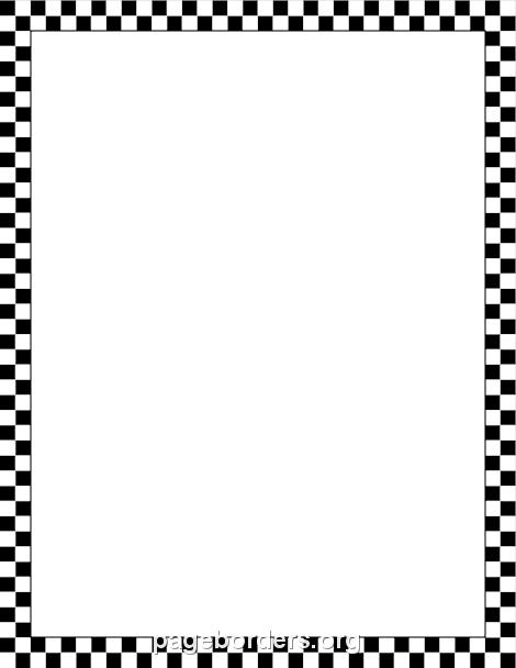 Squares clipart black border Pattern Border and White Checkered