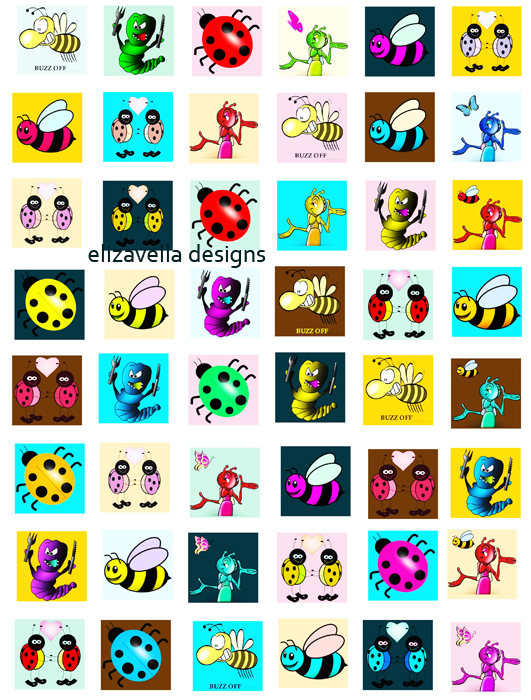 Squares clipart cartoon Bugs download 1 cartoon sheet