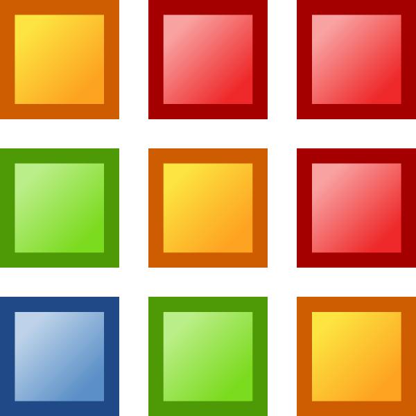 Squares clipart colored At Clip Grid clip Color