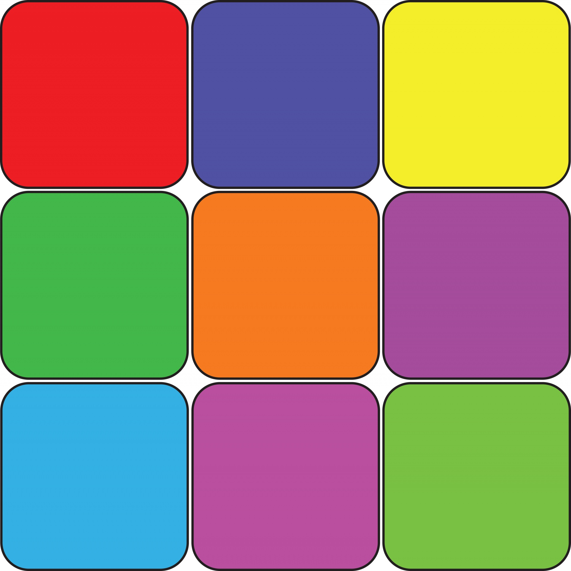 Squares clipart colored Photo Free Squares Colored 9