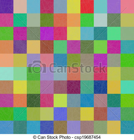 Squares clipart colored Multi Vector background Stock mosaic