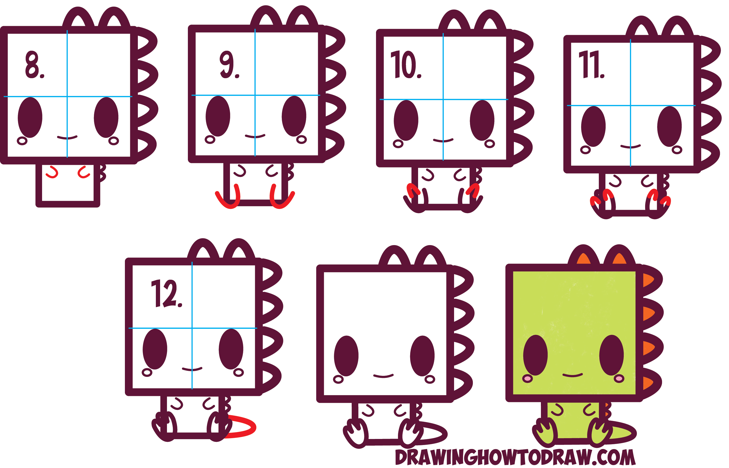 Squares clipart cute Dinosaur to Drawing Squares