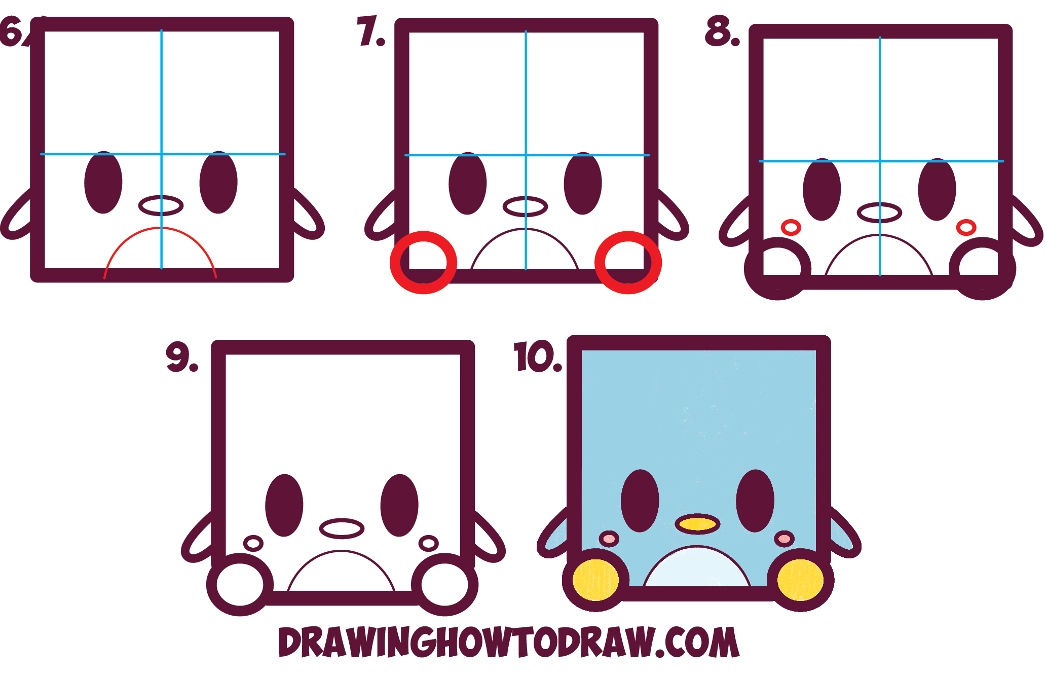 Squares clipart cute Penguin  to Lesson with