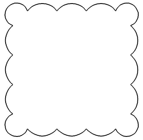 Squares clipart doily Scalloped cliparts Scallop Clipart Square