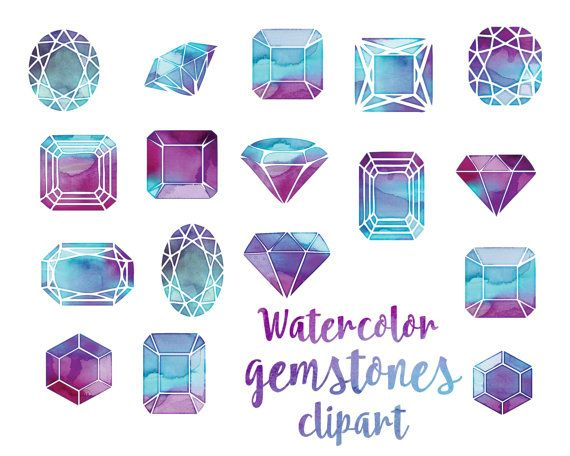 Squares clipart gemstone Images crystals gems painted Inspiration
