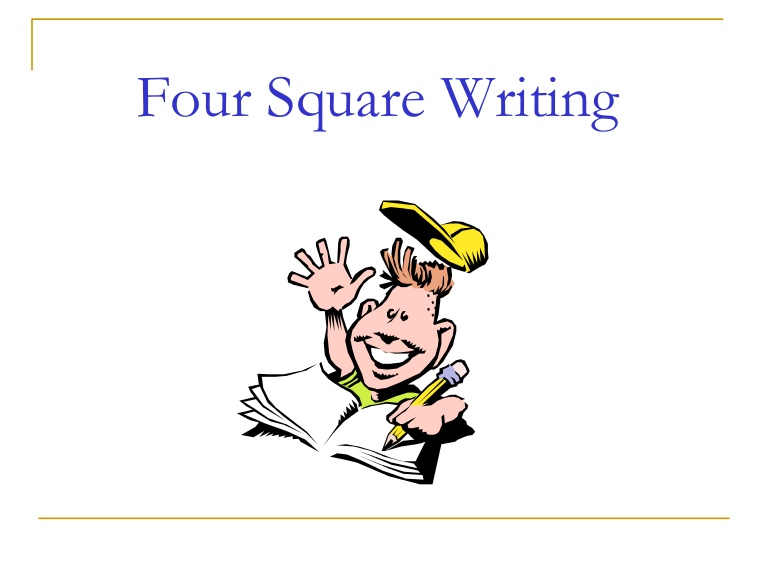 Squares clipart happy Square 25+ Four writing square