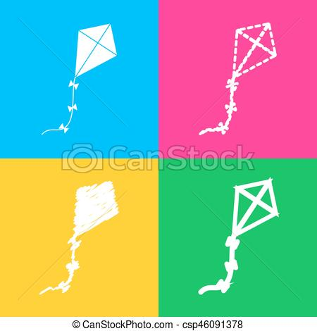 Squares clipart kite Four of Four of on