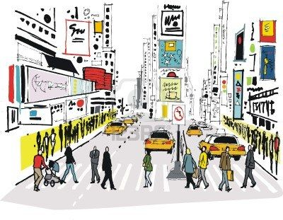 Times Square clipart shopping times Pinterest images Vector best Illustrated