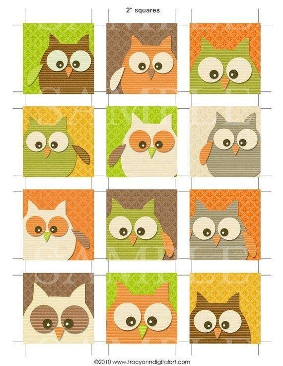 Squares clipart owl Owl Pinterest owls on best